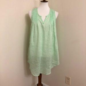 Calypso St. Barth | Light Lime Green Linen Tunic